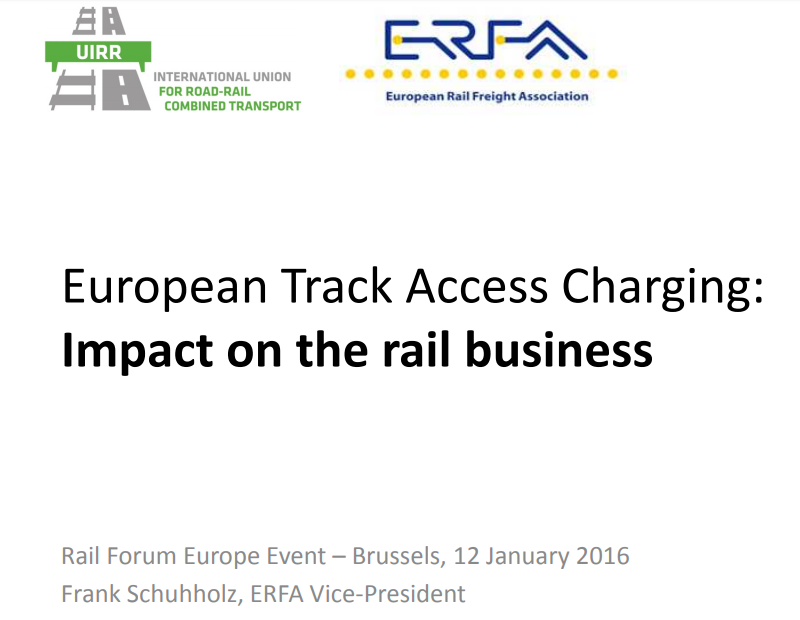 ERFA Vice President speaks at EU Track Access Charges event